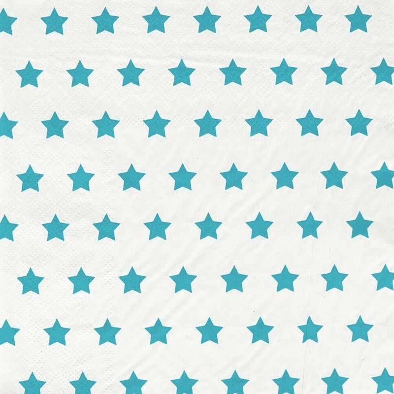 serviettes étoilées bleu (x20)