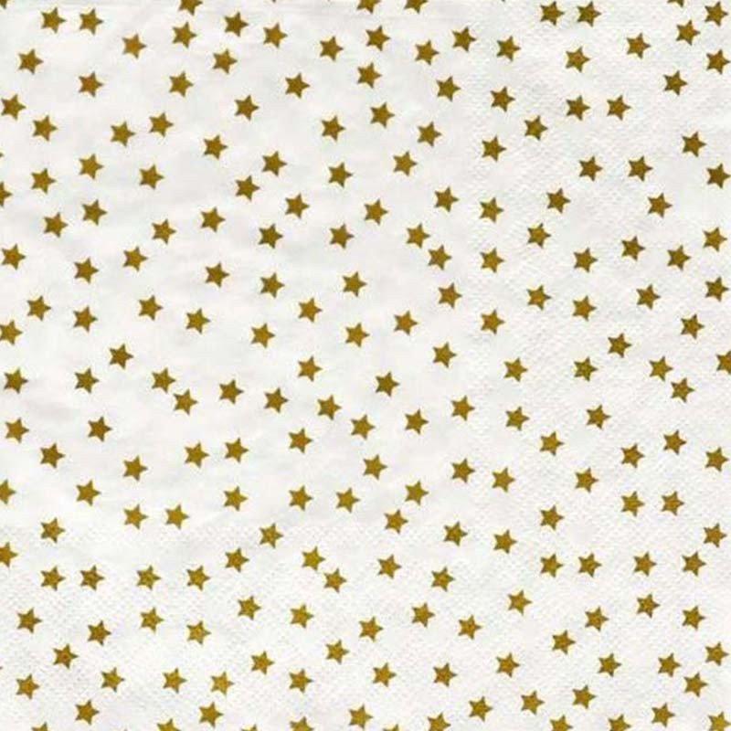 serviettes étoilées or (x20)