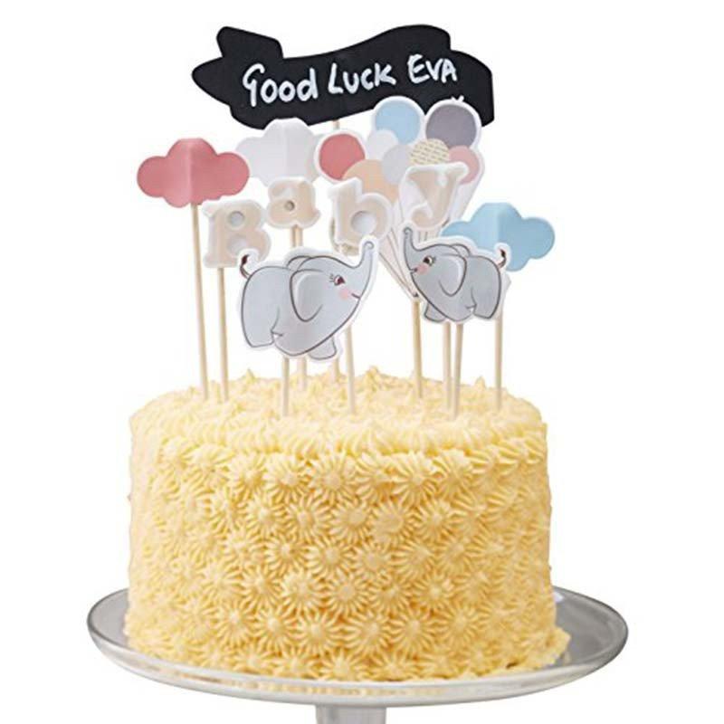Décoration gâteau Elephant aux ballons avec gâteau