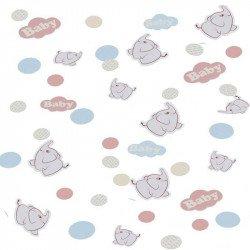 Confettis Eléphant aux ballons