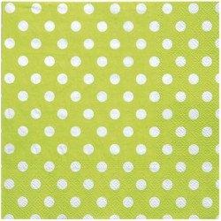 Serviettes à pois (x20) - Vert