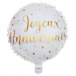 "Ballon Alu ""Joyeux Anniversaire"" - 35 cm"