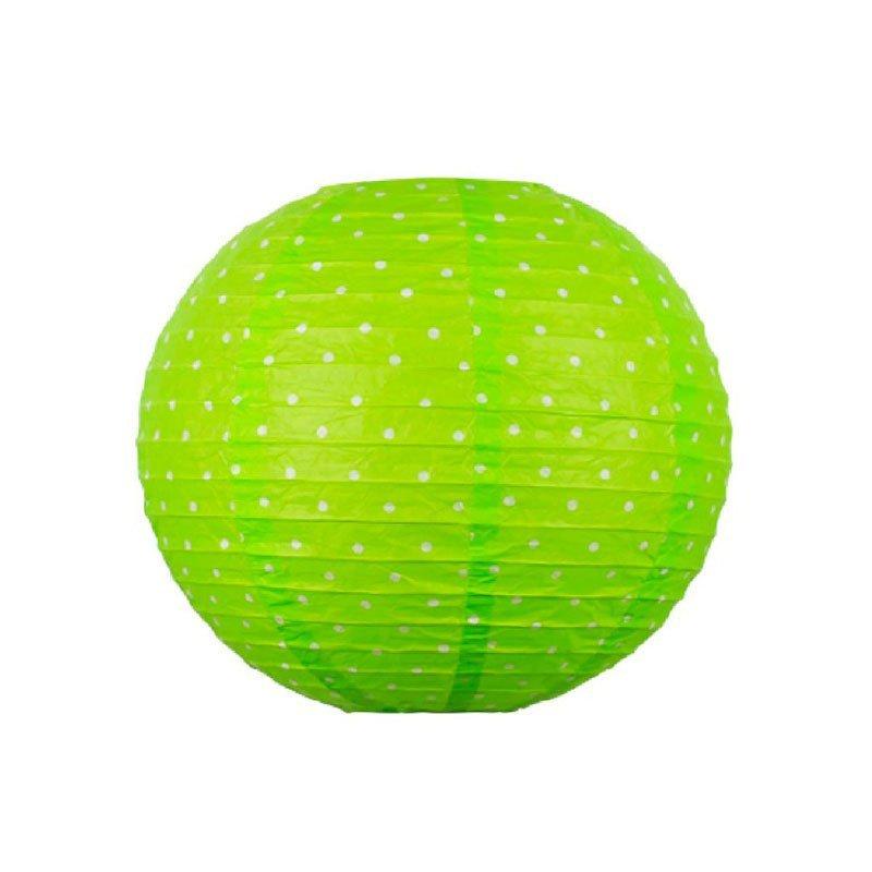 Lampion à pois vert - 45cm