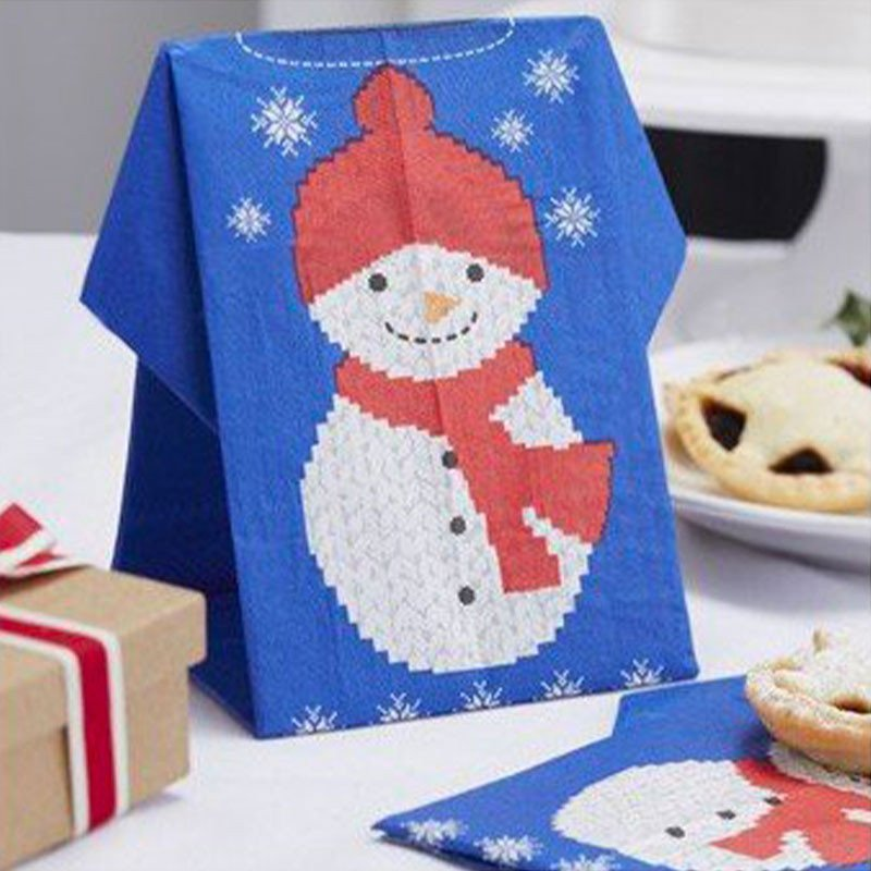 Serviettes Père Noël -12 unités