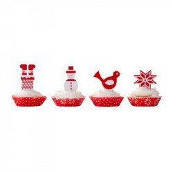 Moules à gâteaux et étiquettes de Noël