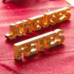 """Lettres """"Joyeuses fêtes"""" paillettes"""