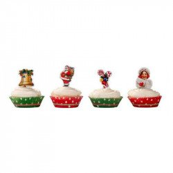 Kit décoration cupcakes Noël - (x40)