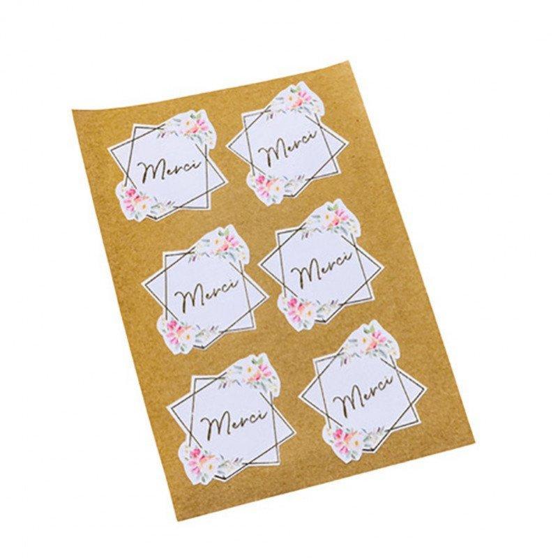 Stickers  Aquarelle Merci (x24)