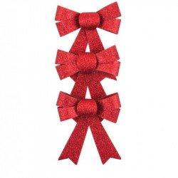 Nœuds paillettes (x3) - Rouge