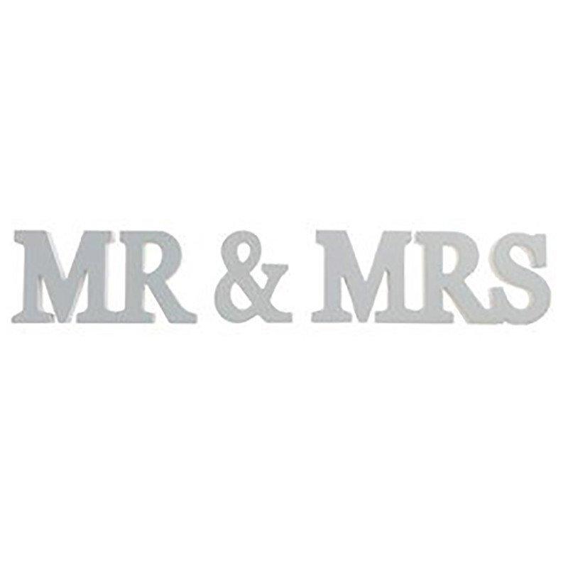 Lettres Mr & Mrs couleur grise