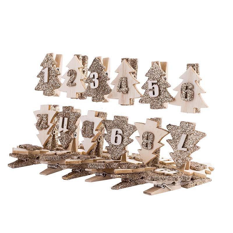 24 pinces pour calendrier de l'Avent