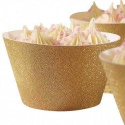 Contours à Cupcakes dorés (x10)
