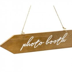 "Pancarte directionnelle bois ""Photobooth"""