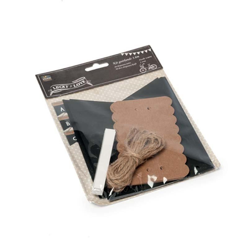 Guirlande fanions ardoises à personnaliser emballé