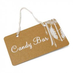 "Pancarte Boho ""Candy Bar"""