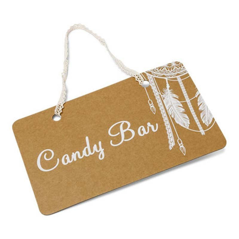 "Pancarte Boho ""Candy Bar"""