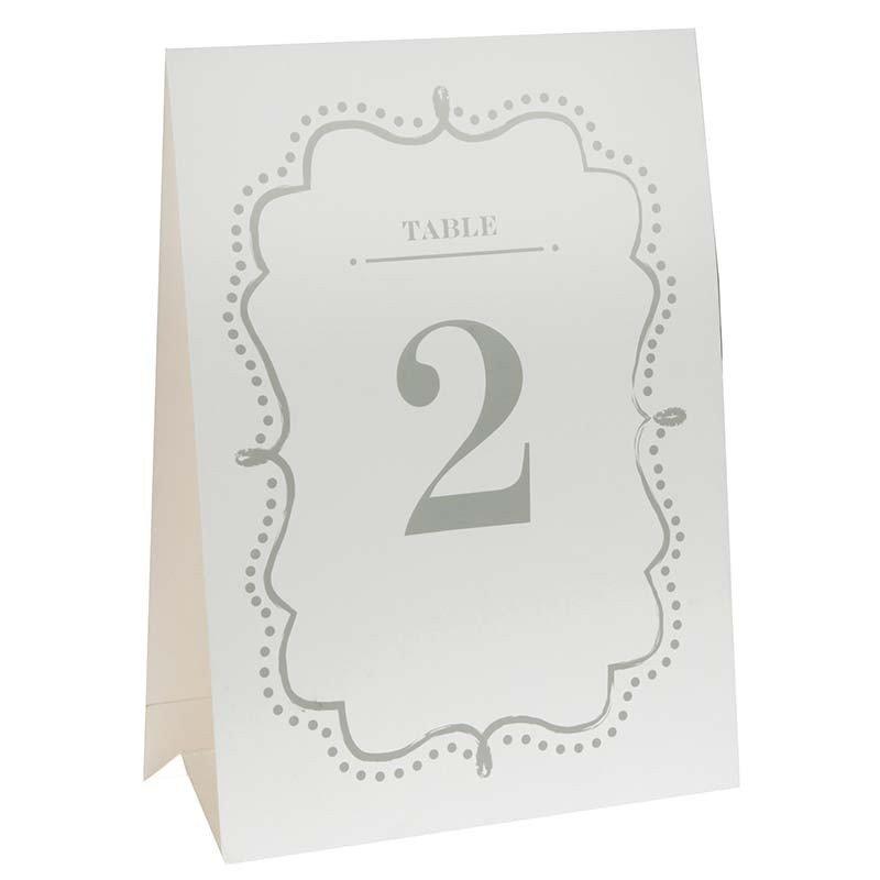 Marque  table raffiné de 1 à 10
