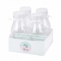 Petites bouteilles de lait (x4)