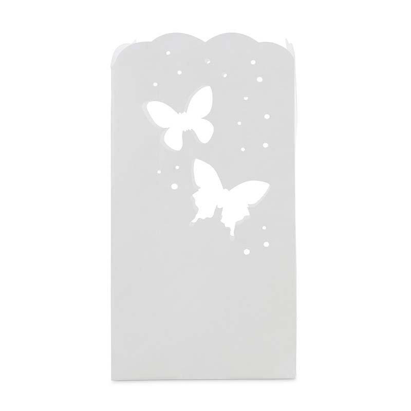 lanterne en papier motif papillon (x12)