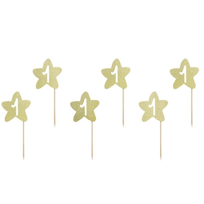 6  Pics étoile 1 an doré
