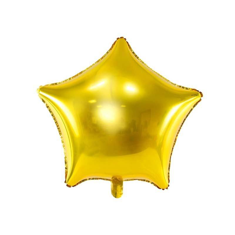 Grand ballon mylar étoile dorée