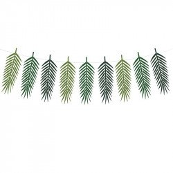 Guirlande de 9 feuilles tropicales