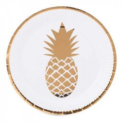 Assiettes Ananas Or (x8)