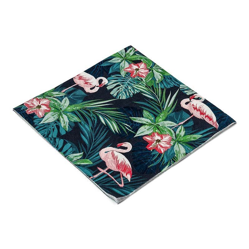 Serviettes tropicales flamingo (x16)