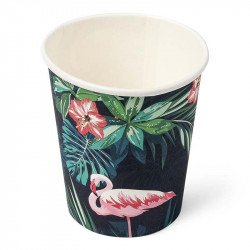 Gobelets tropical flamingo (x8)