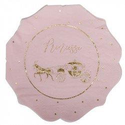 Serviettes Princesse au Carrosse doré (x16)