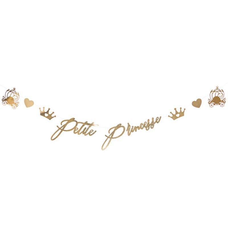 "Guirlande ""petite princesse"" métal or"