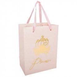 4 Sacs cadeaux Princesse à paillettes
