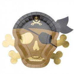 Assiettes Pirate (x8)