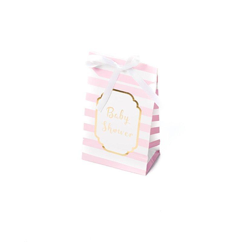 """Pochettes rose """"baby shower"""" (x10)"""