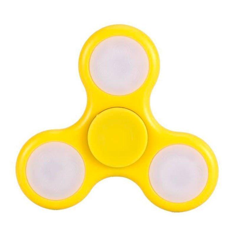 spinner Lumineux à l'unité noir & jaune