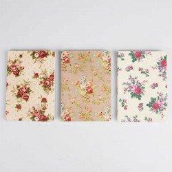 3 Carnet de note Shabby blanc ivoire et taupe