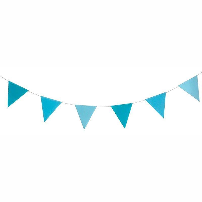 Guirlande fanions bleu