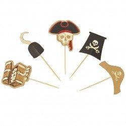 10 Pics pirate avec dorure or