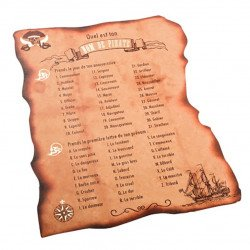 Cartes Jeu de Pirate (x8)