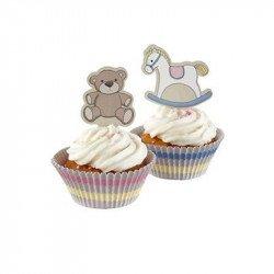 Moules à cupcake Mon petit cheval à bascule avec cupcake (x50)