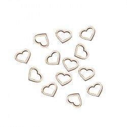 Confettis coeur en bois (x25)