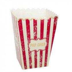 """Boîte à popcorn """"Circus"""" à rayures rouges et blanches"""