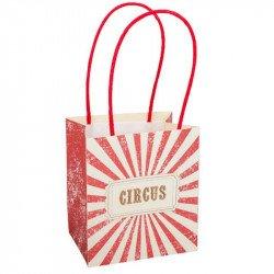 """Sacs Cadeaux """"Circus"""" à rayures rouges et blanches"""