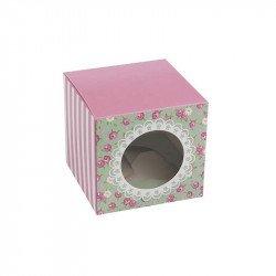Boîtes cupcake Shabby fleuri (x5)