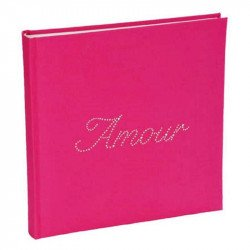 "Livre d'or strass ""Amour"" - Fuchsia"