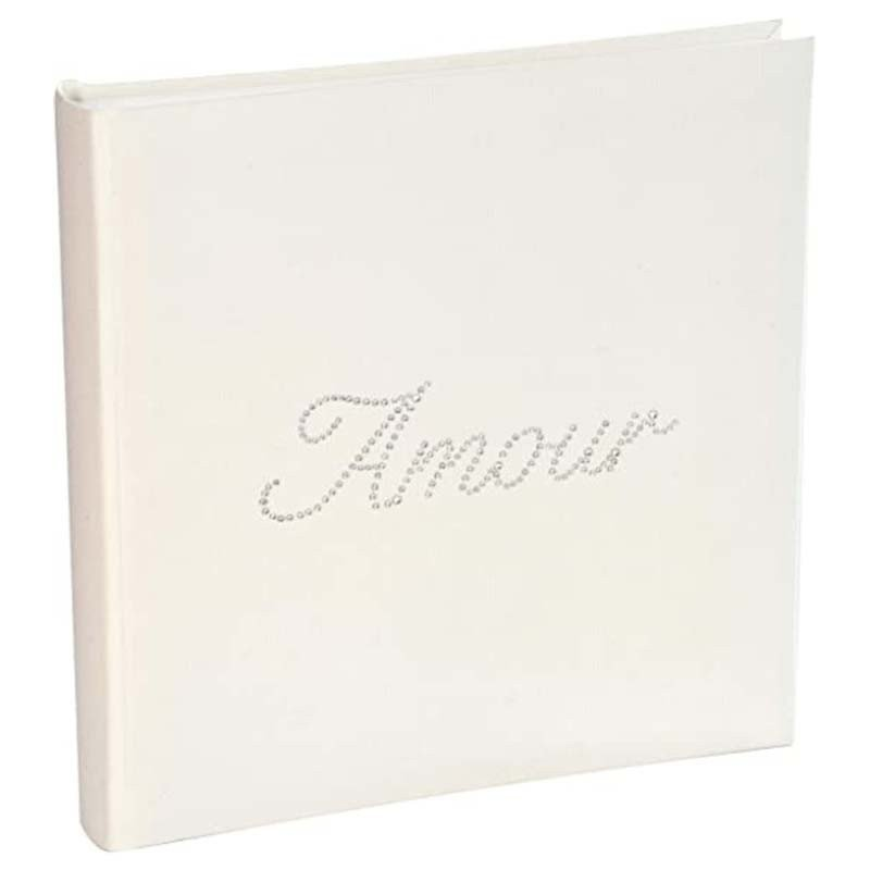 """Livre d'or strass """"Amour"""" blanc"""