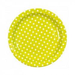 Assiettes à pois (x10) - Vert