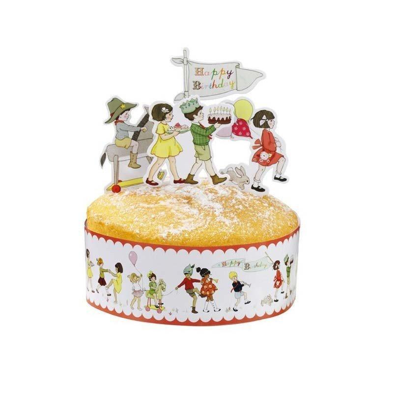 Décoration de gâteau Belle & Boo sur un gâteau