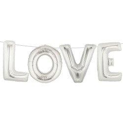 Ballon LOVE argent