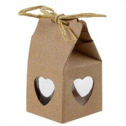 Boîte cœur kraft (x4)